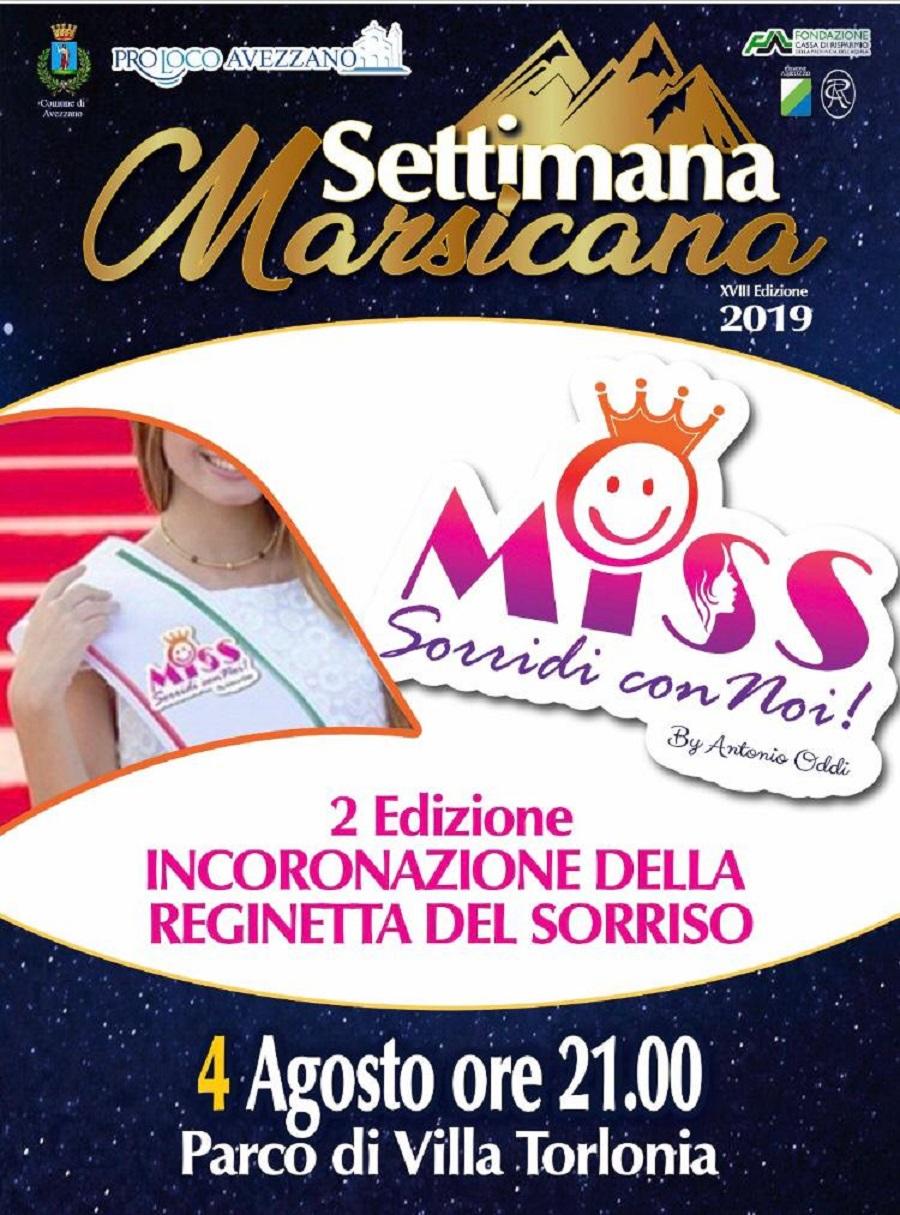 2' Edizione dell'incoronazione della reginetta del sorriso alla Settimana Marsicana