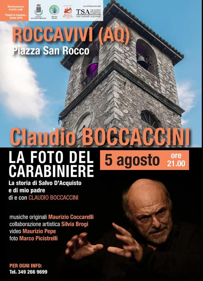 Claudio Boccaccini racconta la storia di Salvo D'Acquisto e di suo padre a Roccavivi