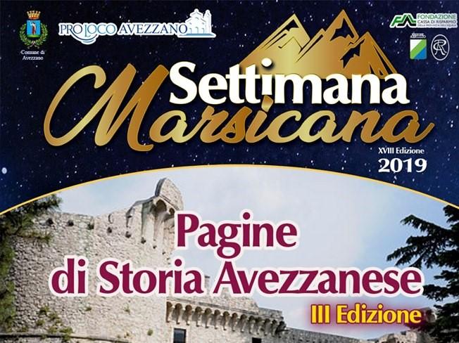 Convegno 'Pagine di storia Avezzanese' alla Settimana Marsicana