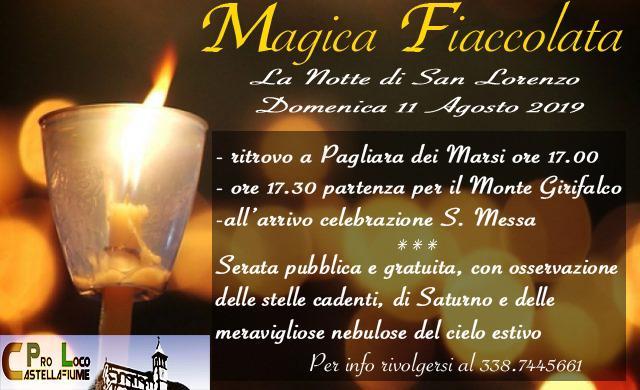 'Magica fiaccolata' per la notte di San Lorenzo a Castellafiume
