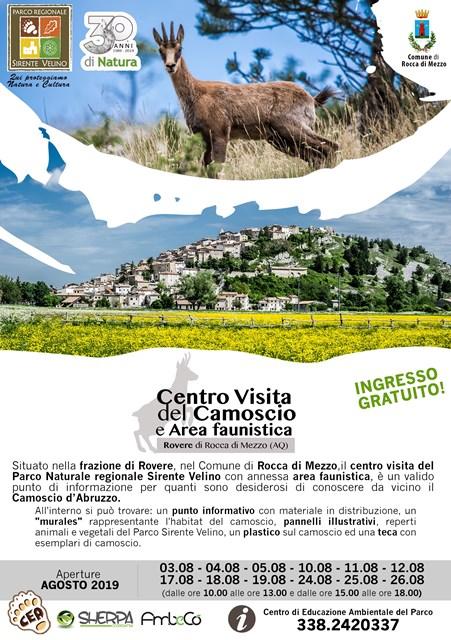 Apertura del Centro visita del camoscio e area faunistica a Rovere di Rocca di Mezzo