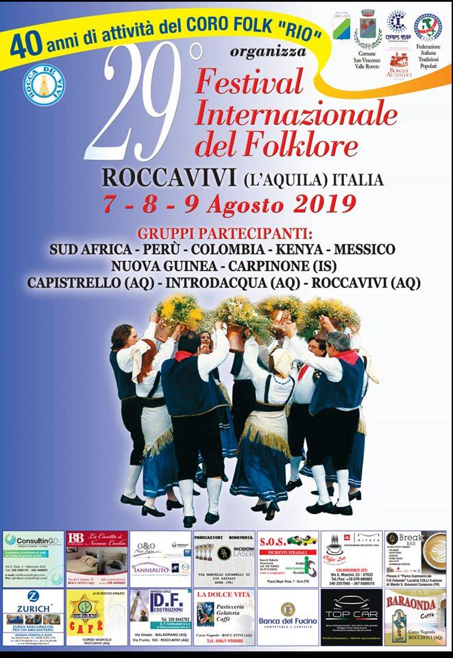 Ventinovesima edizione del festival Internazionale del Folklore a Roccavivi
