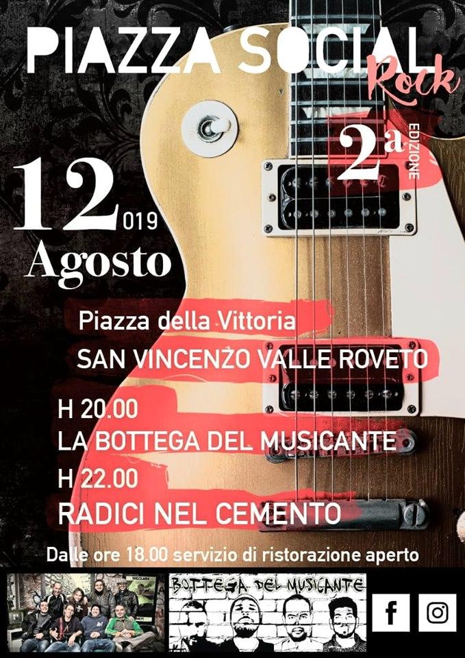 Concerto Rock dei gruppi 'La bottega del musicante' e 'radici nel cemento' a San Vincenzo
