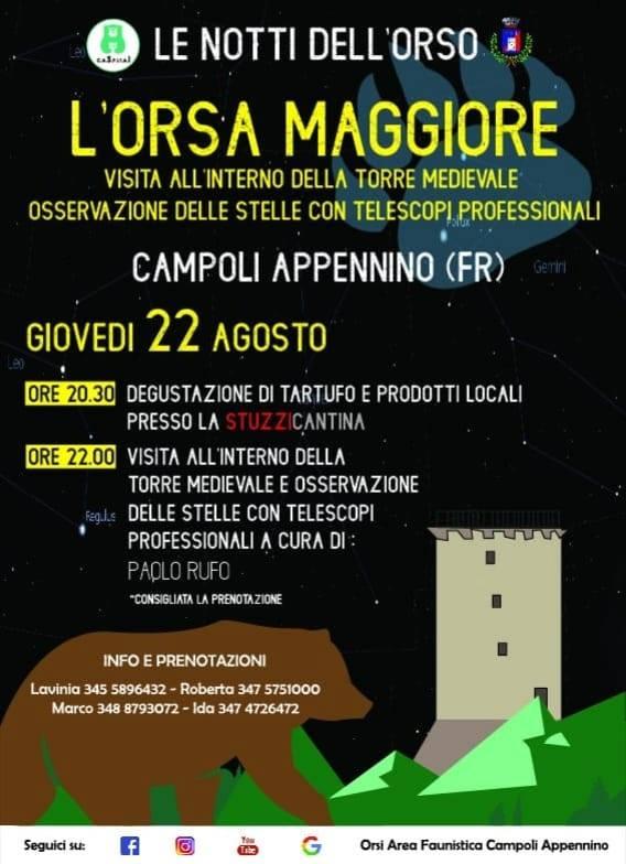 Notti dell'orso a Campoli Appennino 'l'orsa maggiore'