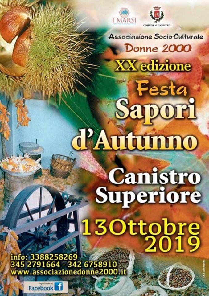 XX' Edizione della festa 'Sapori d'Autunno' a Canistro Superiore