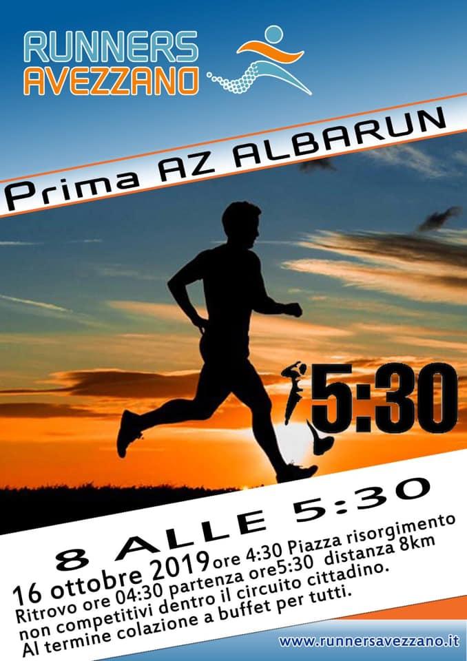 'AlbaRun', gara podistica con partenza all'alba e percorso di 8 km nel cuore di Avezzano