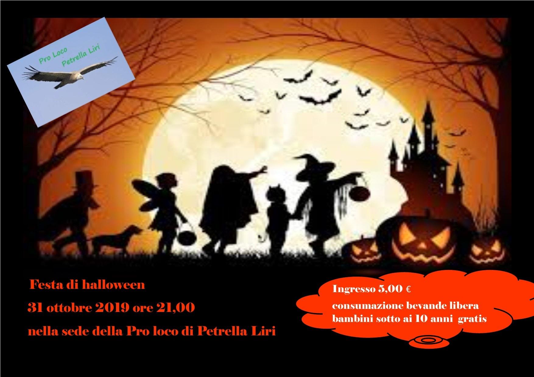Festa di halloween a Petrella Liri di Cappadocia