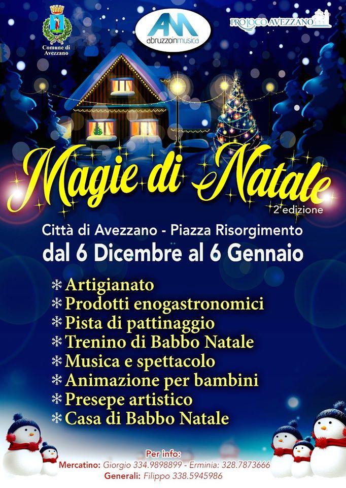 Mercatino 'Magie di Natale' ad Avezzano