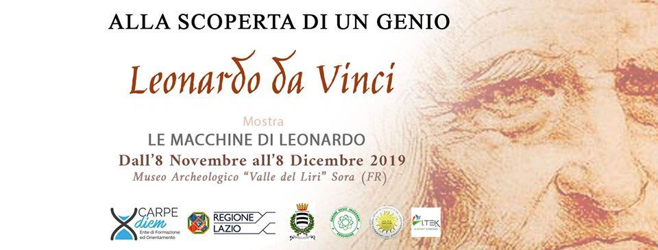 Mostra 'Alla scoperta di un genio, le macchine di Leonardo' a Sora