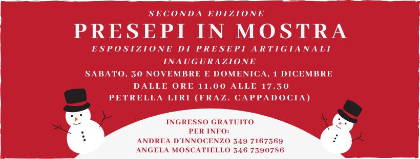 Seconda edizione dei presepi in mostra a Petrella Liri di Cappaodcia