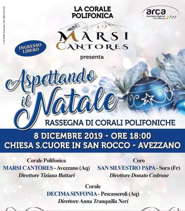 'Aspettando il Natale', rassegna di corali polifoniche ad Avezzano