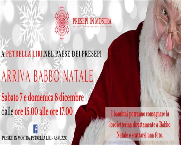 Arriva Babbo Natale ai presepi in Mostra di Petrella Liri di Cappadocia