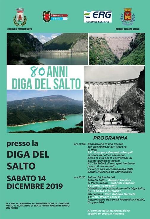Manfestazione per gli 80 anni della diga del Salto