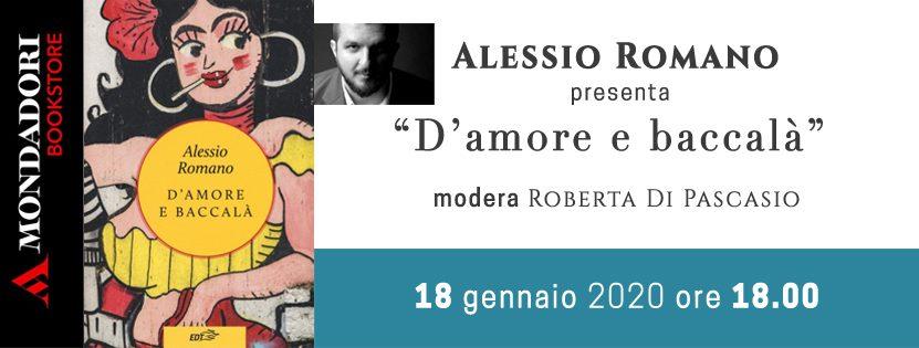 Alessio Romano presenta 'D'amore e baccala'' alla Mondadori di Avezzano