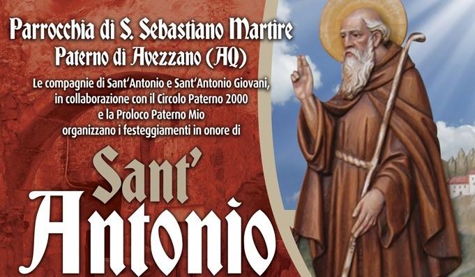 Festeggiamenti in Onore di Sant'Antonio Abate a Paterno di Avezzano