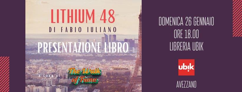 Presentazione del libro 'The Walk Of Fame - Magazine Lithium 48' di Fabio Iuliano ad Avezzano