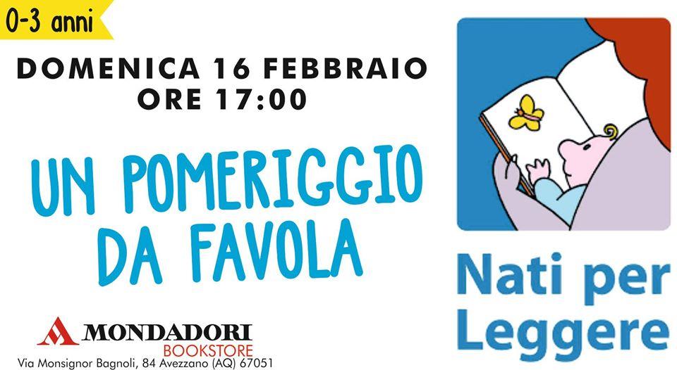Nati per Leggere ''Un pomeriggio da favola'' alla Mondadori di Avezzano