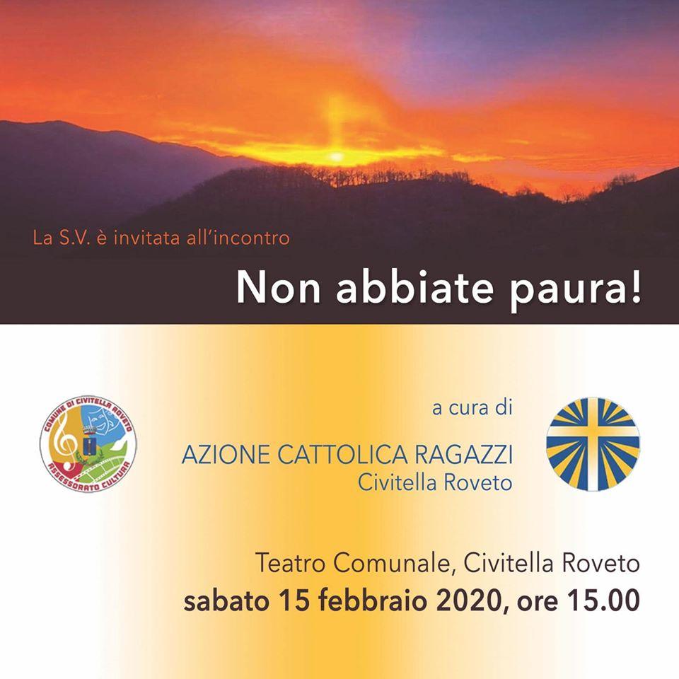 Evento 'Non abbiate Paura' a Civitella Roveto
