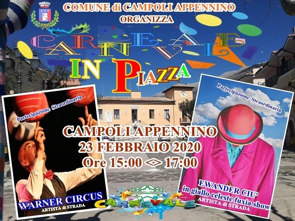 Carnevale in piazza a Campoli Appennino