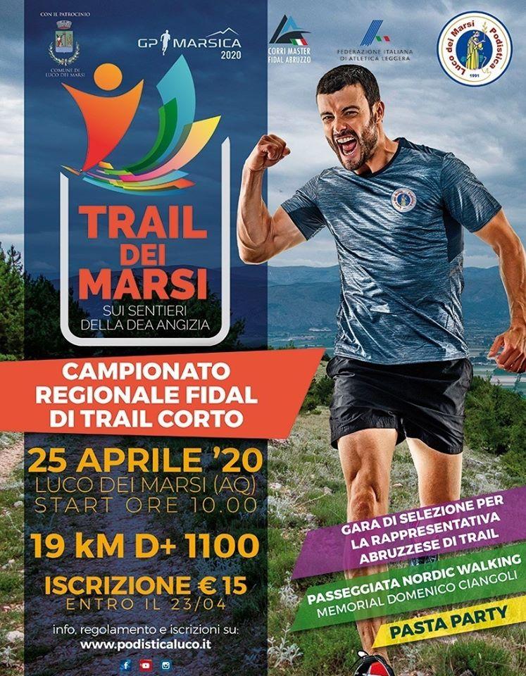 TRAIL Dei Marsi 2020 - Campionato Regionale FIDAL di Trail Corto a Luco dei Marsi