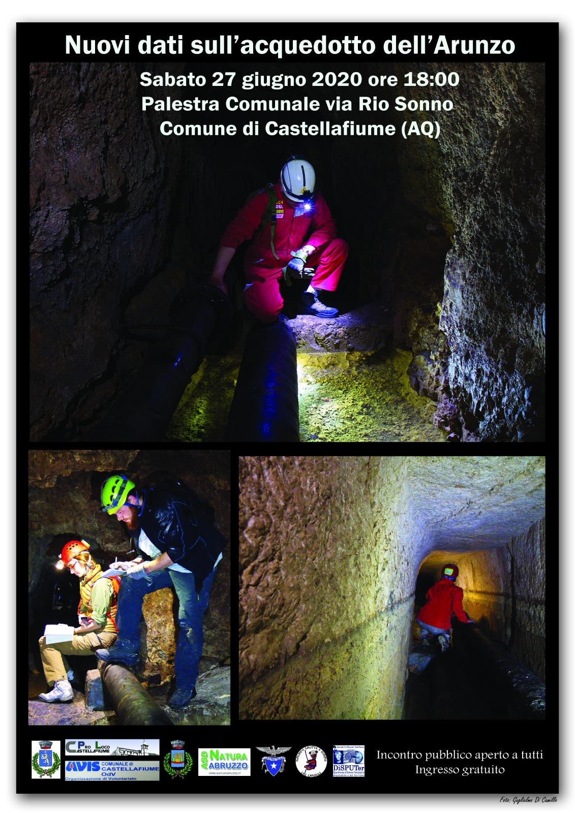 Incontro pubbilco a Castellafiume: ''Nuovi dati sull'acquedotto dell'Arunzo''