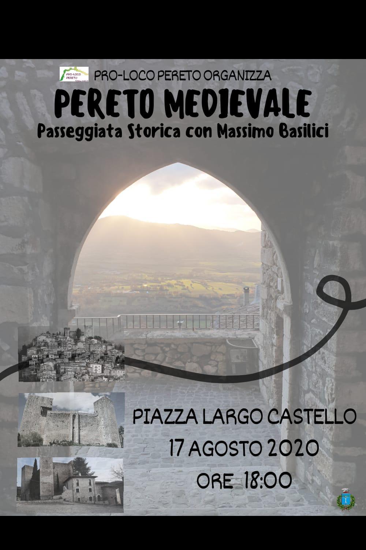 PERETO MEDIEVALE: Passeggiata storica con Massimo Basilici